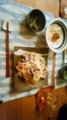 本日の晩ご飯 きのことあさりのアリオリ オクラの生姜マリネ  ツ