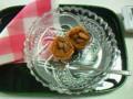先生から頂いた、ギリシャのお菓子「リフナラーキ」…すごく、甘いで