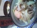 やっと夕飯(^^)/お腹すいた〜♪辛口の冷酒の後は豚丼です