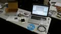 これが、ビューロチェーサーだ。LEDを点灯させるコーディング中。