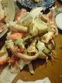 カニとホッケ貝*10とツブ貝*10が送られてきた。多すぎ。