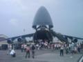 C-5ギャラクシー。C-17がおもちゃに見えるくらいでかい