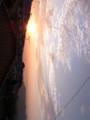 今日(昨日)は夕焼けがキレイでした。もう秋の空ですね。画像のタテ