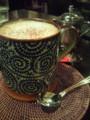 桜坂珈琲店で夜喫茶。名前が全部和風!私はカフェオレの東風(こち)