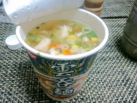 日清のワンタン麺 食べた ワンタン麺は、浜田山駅そば、たんたん亭の