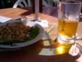 ちょっと遅い昼飯 居酒屋エグザイルはビアガーデン風な居酒屋でした