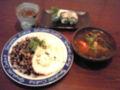 今日のディナーはアジアンご飯。モロヘイヤと海老入りのトム ヤムク