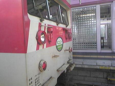 塩尻なう。かわいい電車。