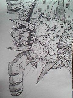 キラーパンサーをちゃんとボールペンで描いてみた
