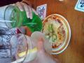 レモンスカッシュとソーダ水でかんぱーい!