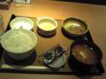 遅めの朝食なう  やよい軒で、納豆朝食。たまには納豆食べないとね