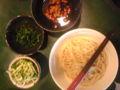 結局、納豆蓮根麺。蓮根が練り込んである麺らしい。