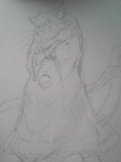ドラクエのねこまどう描いてたら何かイケメンに。