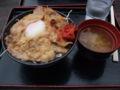 途中で福島松川ETC丼を食べた。検索ちゃんでやってたやつ。福神漬
