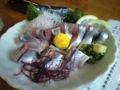 鳥取県からたまきちさんがきているのではらこめしを食べに亘理にきた