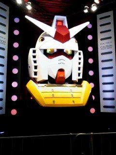 東京ゲームショーにお台場ガンダムの頭部が。