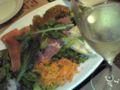 押上の遠藤利三郎商店で。サラダすごいボリューム!
