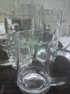 横浜オクトーバーフェスト用グラス悩み中 同じ容量なのに、こんなに