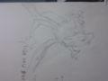 数学のプリントに描いたバンギラスとリザードンです。ノートには二匹
