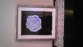 こないだ描いた絵を額装してもらった!群青と銀のフレームのコントラ