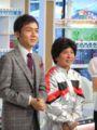 隣は角田さん。前にぐいぐいくる感じです。