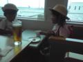 那覇空港のANAラウンジで無料ビール飲んでるなう。変更不可のチケ