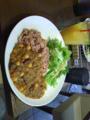 オーガニックカフェで豆カレーを食す。になみに20分前におでん食べた