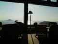 伊良湖ビューホテルのラウンジ。施設は古いけどロケーションは絶景。