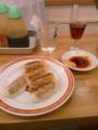亀戸餃子 ウーロン茶で一服