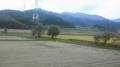 今 今、山形新幹線にょろ。葡萄の産地の南陽市通過中。
