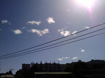 風は強いものの東京は現在快晴