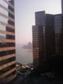 25階のホテル部屋からの眺め。ケチったのでガーデンビュー