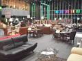 UDX二階のスペースが家具だらけ。松坂屋のイベント準備。