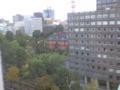 式会場ホテルなう。現道庁と旧道庁赤レンガが見える部屋でござる