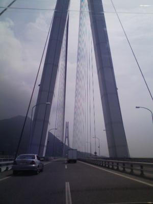 写真投稿実験 8月に見たしまなみ街道の橋のどこか