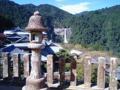 青岸渡寺からみた那智の瀧。