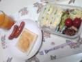 サンドイッチ弁当と、朝ごはんのホッとサンド。パスコ信者