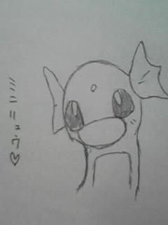 ミニリュウ。家にポケモンのチラシがあったので描いてみた。可愛いよ