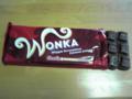 ウォンカさんのチョコレート。かなり甘いけど好きです。