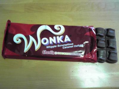 ウォンカさんのチョコレート。