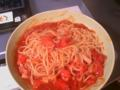 &トマトのパスタ♪