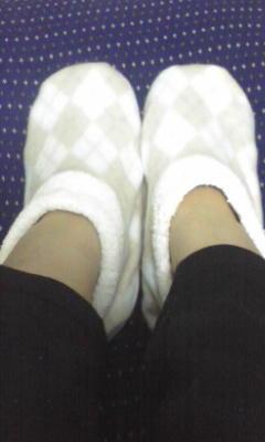休憩なう。今年は末端冷え性対策にぬくぬく靴下買いました!