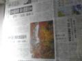兄が撮った写真と記事文が新聞社の壁に貼られてた。中日新聞にもカメ