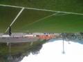 廿日市市サッカー場に来た。中国リーグの優勝が決まる試合。佐川急便