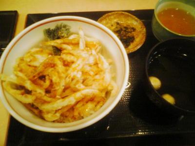 蕎麦を食い損ねたので富山で白えび屋で白えび天丼を…いただくなう。