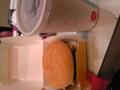 そして遅い昼食にバーガー。