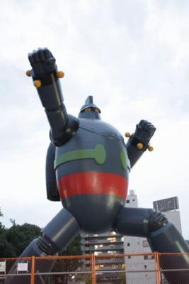 お台場ガンダムには敵わないがでかいよ神戸・長田の鉄人28号!エヴァ
