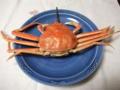 ちっこいけど蟹食べました。明日の昼はすきやきの予定だったらしいで
