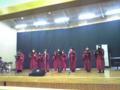 聖歌隊の合唱中なう。ハレルヤコーラスとアメージンググレイス。明日