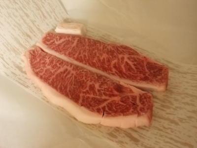 150g1500円のビフテキをいただきました。国産和牛だけど神戸牛かは?で